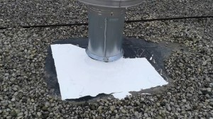 Ballasted Roof - Silicone Flashing System